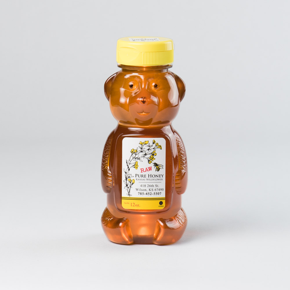 Kansas Wildflower Honey 12 oz Bear