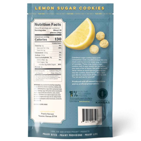 Lemon Sugar Cookies - Medium - Back