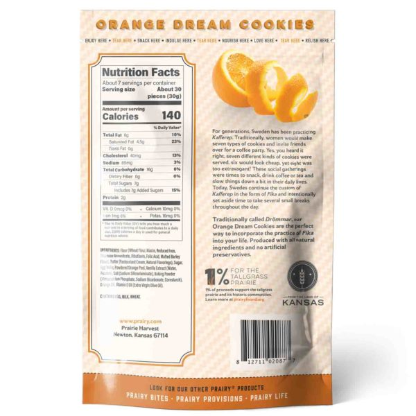 Orange Dream Cookies - Medium - Back
