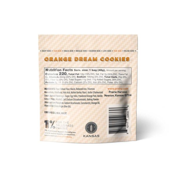 Orange Dream Cookies - Snack - Back