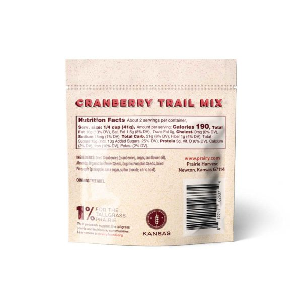 Trail Mix - Cranberry - Snack - Back