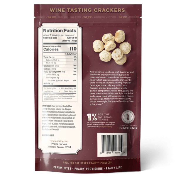 Wine Tasting Crackers - Medium - Back