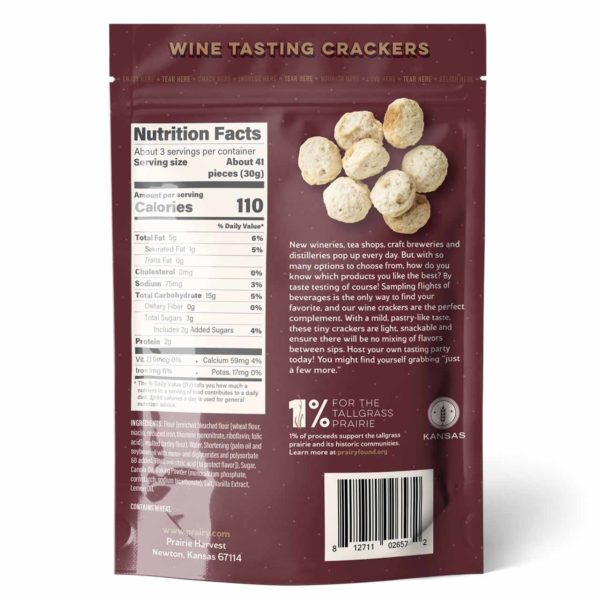 Wine Tasting Crackers - Small - Back